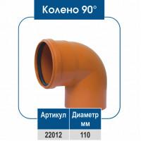 Колено ПВХ 90° 110 диаметр (НР)