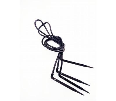 Капельница-четыре спицы угловые (мягкая трубка)