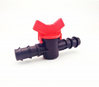 Кран соединительный для капельной,слепой трубки Santehplast