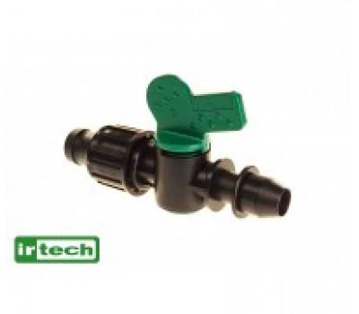 Миникран с поджимом и впаянной резинкой для капельной ленты Irtech
